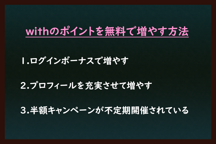 with withのポイントを無料で増やす2つの方法
