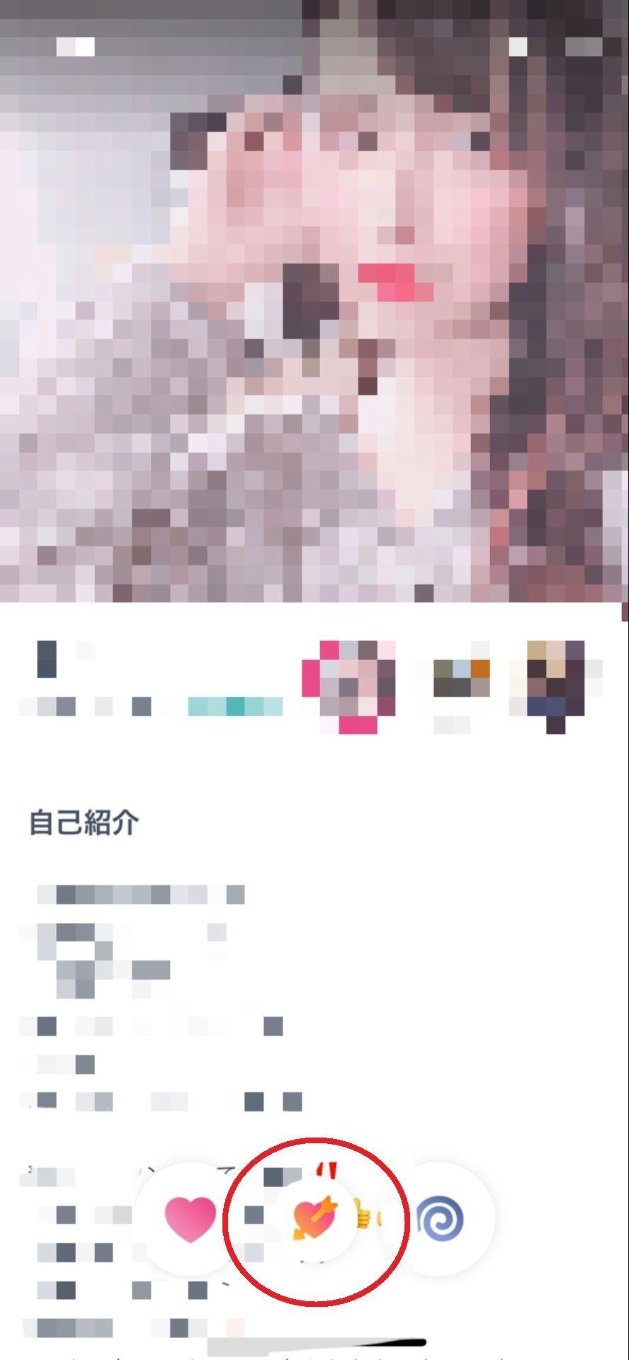 タップル誕生 相手のプロフィール画面から「スーパーいいかも」をチェック!