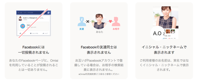 Omiai(オミアイ) Facebook利用で安心の婚活アプリ「Omiai」
