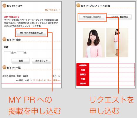 パートナーエージェント MyPRの申し込み方法