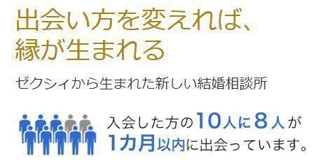 ゼクシィ縁結びカウンター 1か月以内のデート成立はなんと80%!!