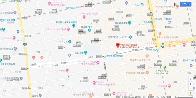 婚活恋活アプリ ティアラへのアクセス地図