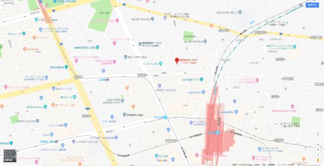 結婚相談所 ツヴァイ仙台支店へのアクセス地図