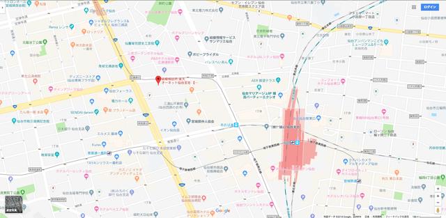 結婚相談所 楽天オーネット仙台支店へのアクセス地図