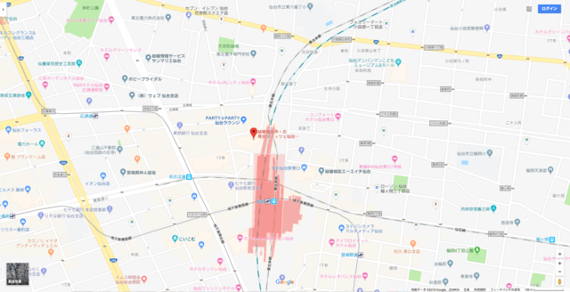 結婚相談所 ノッツェ仙台支店へのアクセス地図