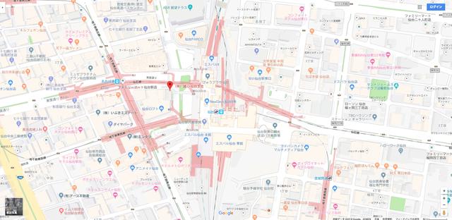 結婚相談所 誠心仙台支店へのアクセス地図