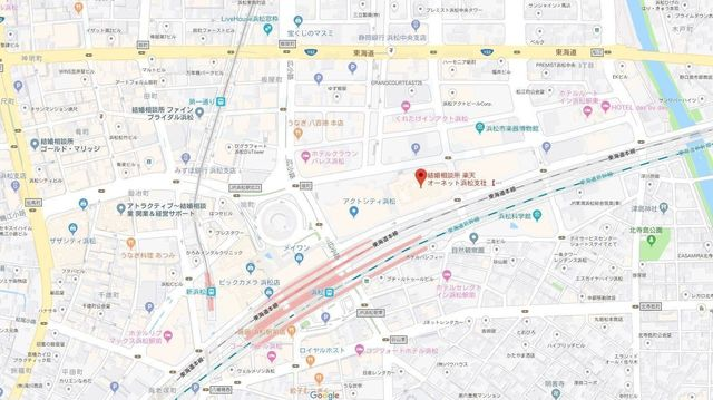結婚相談所 楽天オーネット 浜松支社へのアクセス地図
