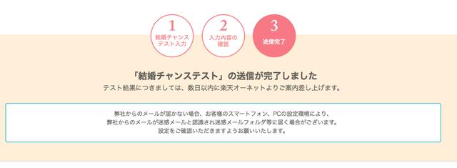楽天オーネット 5.入力内容を再度確認して送信完了!