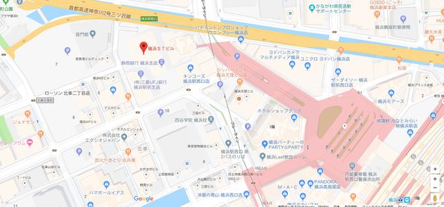 結婚相談所 マリッジクラブウィッシュ横浜本店へのアクセス地図