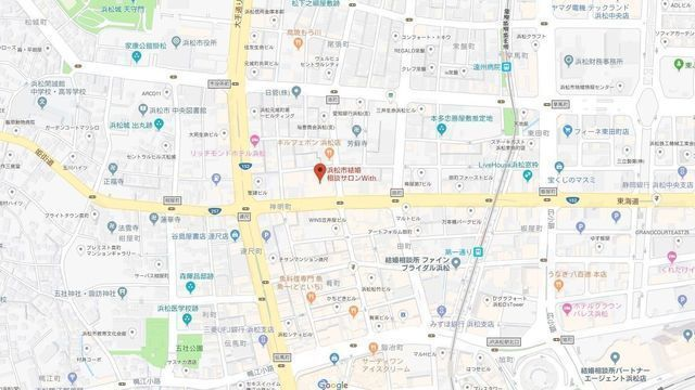 結婚相談所 浜松市結婚相談サロンWithへのアクセス地図