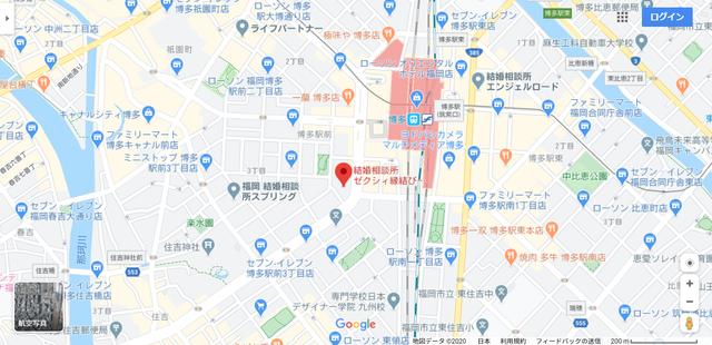 結婚相談所 ゼクシィ縁結びエージェント 博多店へのアクセス地図
