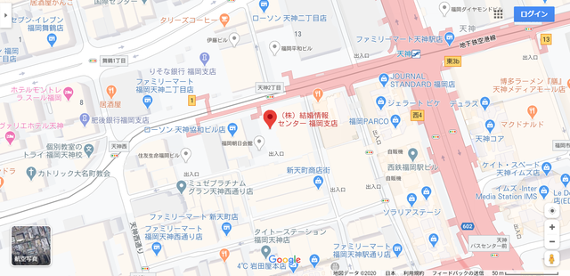 結婚相談所 ノッツェ福岡支店へのアクセス地図