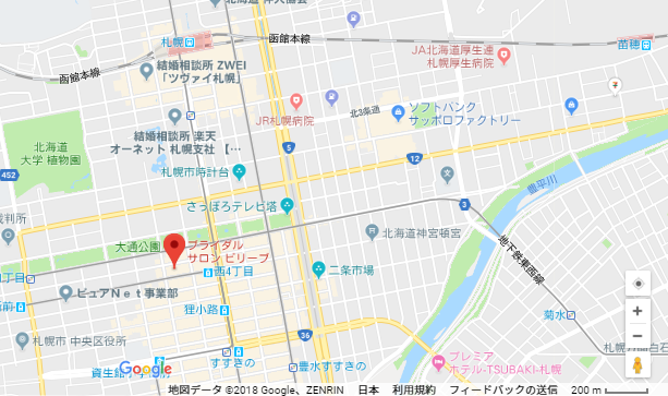 婚活恋活アプリ ブライダルサロンビリーブへのアクセス地図