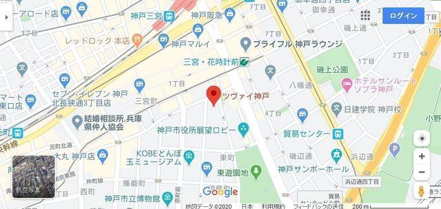 結婚相談所 ツヴァイ神戸へのアクセス地図