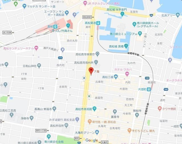 婚活のコツ 楽天オーネット高松支社のアクセス地図