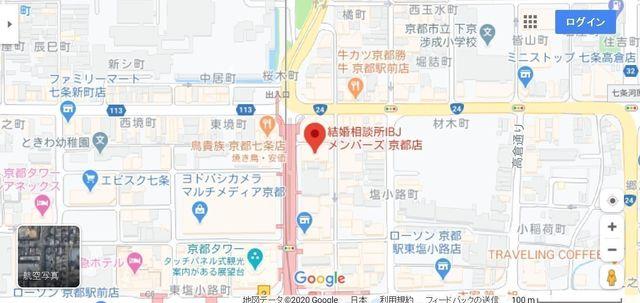 結婚相談所 IBJメンバーズ 京都店へのアクセス地図