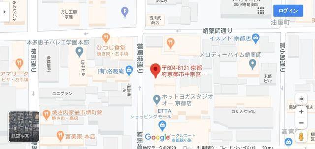 結婚相談所 セブン結婚相談所 京都サロンへのアクセス地図