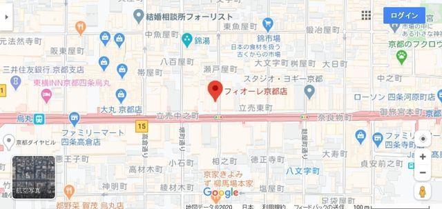 結婚相談所 フィオーレ 京都店へのアクセス地図