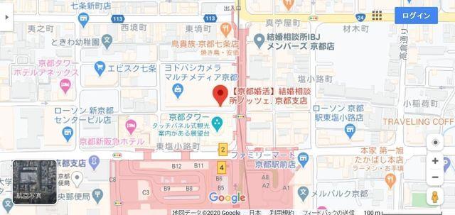 結婚相談所 ノッツェ 京都支店へのアクセス地図