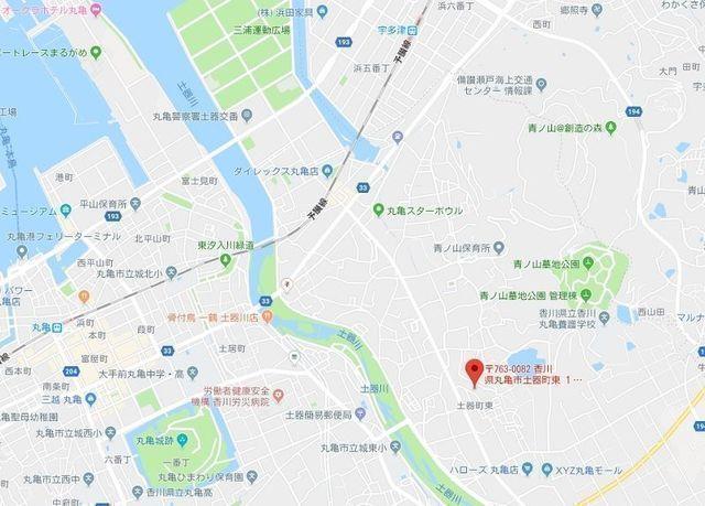 婚活のコツ ハッピーブライダル丸亀本店のアクセス地図