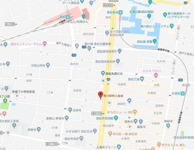 婚活のコツ 香川県仲人協会のアクセス地図
