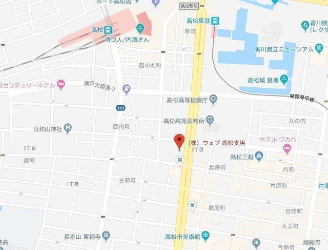 婚活のコツ ウェブ高松支店のアクセス地図