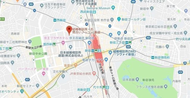 婚活のコツ ノッツェ 新宿本店のアクセス地図