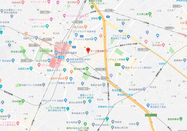 婚活恋活アプリ ゼクシィ縁結びエージェント池袋東口店へのアクセス地図