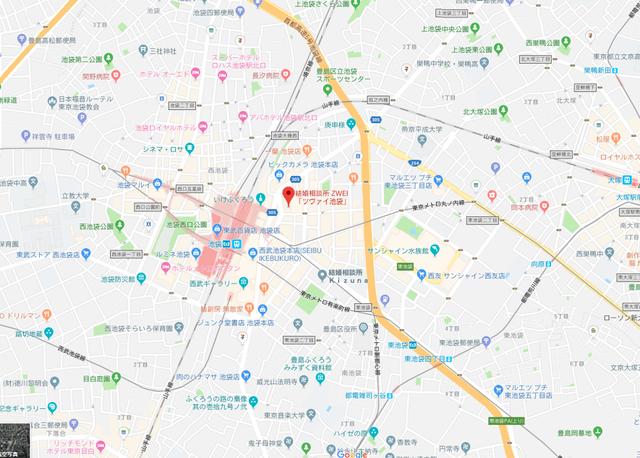 婚活恋活アプリ ツヴァイ池袋へのアクセス地図