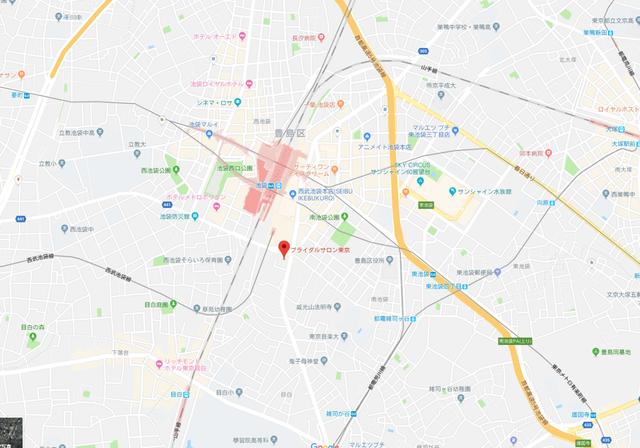 婚活恋活アプリ ブライダルサロン東京のアクセス地図