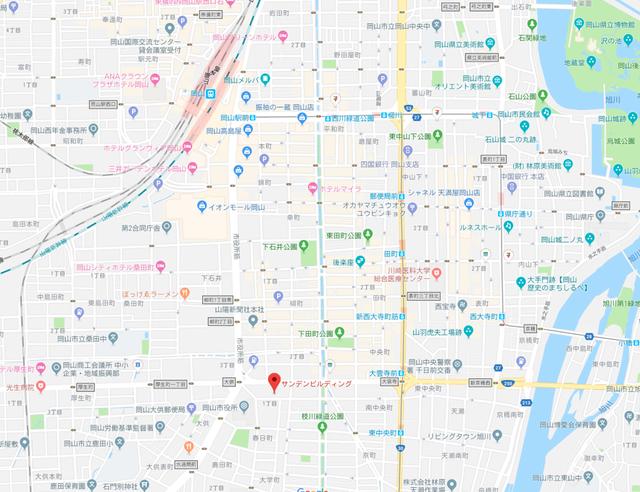 結婚相談所 ファインブライダル岡山のアクセス地図