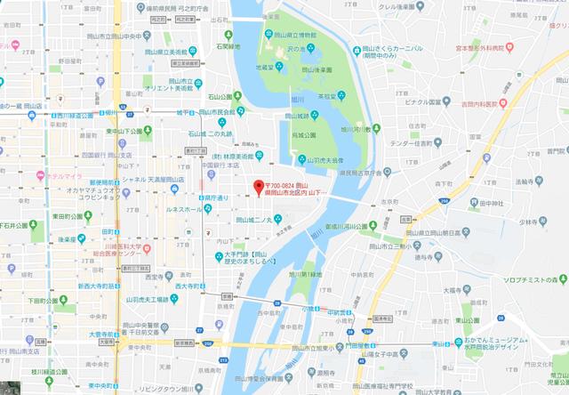 結婚相談所 パルティール岡山のアクセス地図