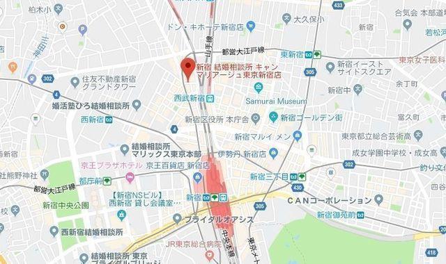 婚活のコツ キャンマリアージュ東京新宿店のアクセス地図
