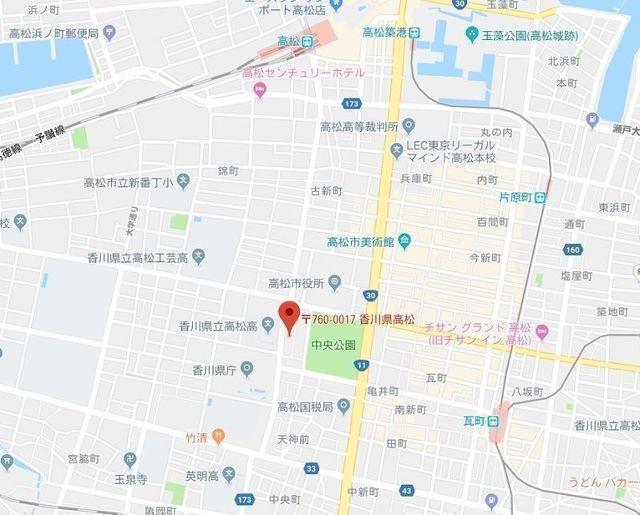 婚活のコツ EN-MUSUかがわ(香川縁結び支援センター)のアクセス地図