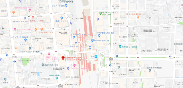 婚活のコツ パートナーエージェント高崎店へのアクセス地図