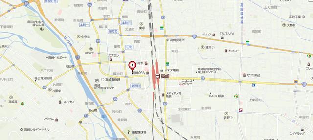 婚活のコツ 楽天オーネット高崎支社へのアクセス地図