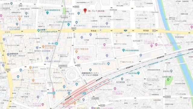 結婚相談所 結婚情報ウェブ 浜松支店へのアクセス地図