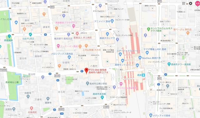婚活のコツ 群馬県仲人協会のアクセス地図