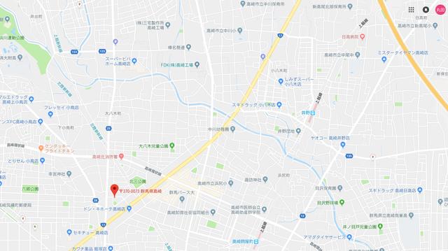 婚活のコツ ラムールしあわせ結婚相談室群馬県高崎本店のアクセス地図
