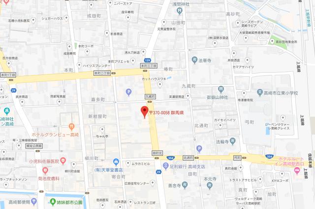 婚活のコツ ファインブライダル高崎のアクセス地図
