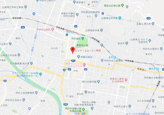 婚活のコツ JMC甲府のアクセス地図