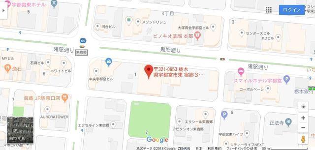 婚活のコツ ツヴァイ宇都宮へのアクセス地図