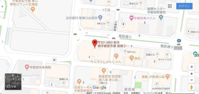 婚活のコツ 栃木結婚サポートセンターのアクセス地図