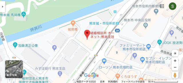 結婚相談所 オーネット熊本支社のアクセス地図