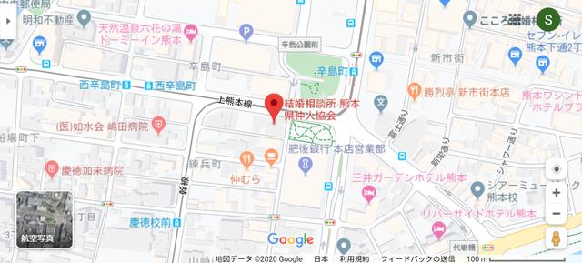 結婚相談所 熊本県仲人協会のアクセス地図