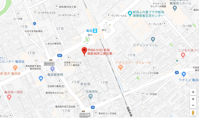 婚活恋活アプリ 日本仲人協会新潟支部へのアクセス地図