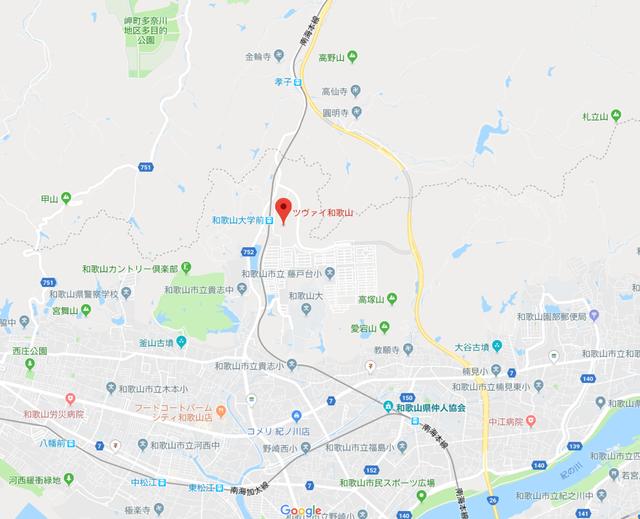 婚活恋活アプリ ツヴァイ和歌山のアクセス地図
