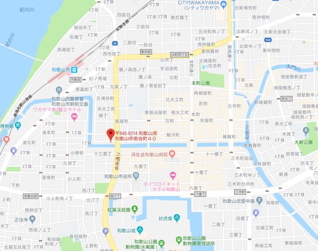 婚活恋活アプリ 婚活応援所アップのアクセス地図