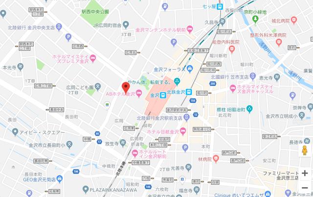 婚活恋活アプリ WeBCon(ウェブコン)金沢支店のアクセス地図