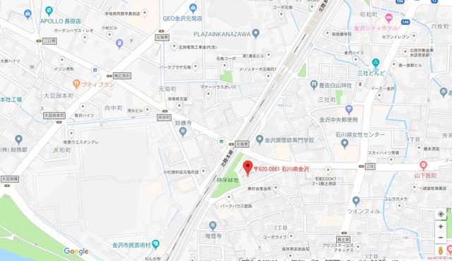 婚活恋活アプリ ハイグレードクラブ石川オフィスのアクセス地図